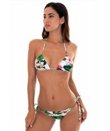 Water lily print Brazilian bathing suit - LOTUS MINI