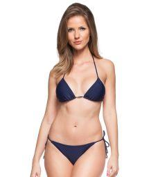 Classic side-tied navy blue Brazilian bikini - MAHO BEACH