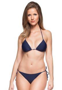 Bikini brasileño clásico azul marino con atado lateral - MAHO BEACH