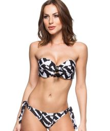Black and white padded bandeau bikini - MEL SILVESTRES