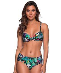Buntgeblümter Balconette-Bikini, Formbügel - NO ATALAIA