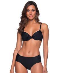 Black tab side bikini bottom - NO PRETO