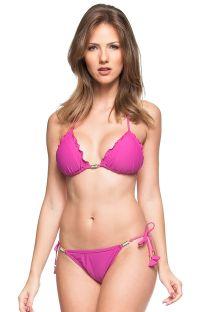 Pink scrunch bikini with decorative stones - OESTE DA PRAIA