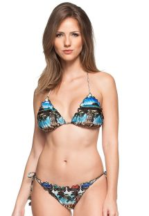Skrynklad bikini iCuba-tryck, rynkade kanter- OLIVIEIRA