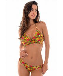 Brazilian bikini with colourful palm trees - PALMEIRA CRUZADO