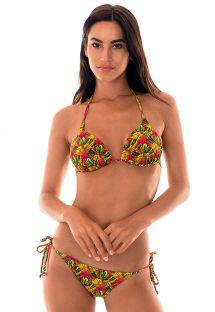 Polstret trekant bikini med palmemønster - PALMEIRA IGUAL