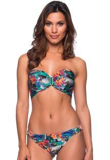 Tropisk brasiliansk balkonett-bikini med stein - PEDRA NORONHA FLORAL