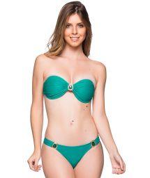 Grön bandeau bikini med stenar - PEDRAS ARQUIPELAGO