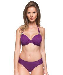 Purple hard padded halter bikini with underwire - PEQUENO PARAISO