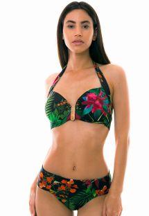 Floral black balconette bikini - PLAYA BONITA
