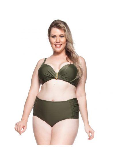 Plus-size balconette bikini in khaki - PRAIA DA LAGOA