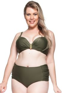 Bikini balkonetka khaki plus-size - PRAIA DA LAGOA