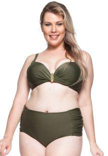 Khakifarbener Balconette-Bikini, große Größen - PRAIA DA LAGOA
