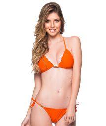 Accessorized orange scrunch bikini  - ROLOTE POR DE SOL