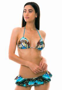 Skirted bikini with padded top - Cuban print - SANTO DOMINGO