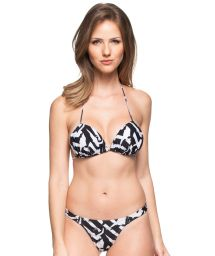 Two-toned string bikini and padded triangle top - SOL DO CARIBE