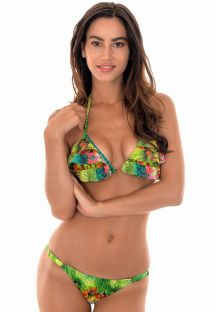 Tropical triangle bikini with frills and tassels - TERRA BABADINO