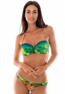 Pehmustettu trooppinen bandeau bikini - TERRA DRAPEADO