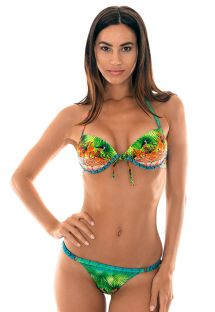 Bikini tanga t Push-up estampa tropical - TERRA PARADISE FIO