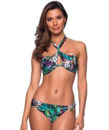 Färggrann, blommi gbandeau bikini - TQC TRANSPASSADO ATALAIA