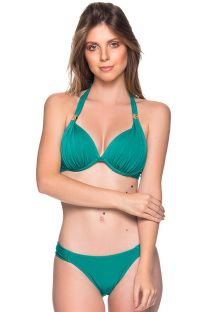 Green accessorized halter bikini - TURBINADA ARQUIPELAGO