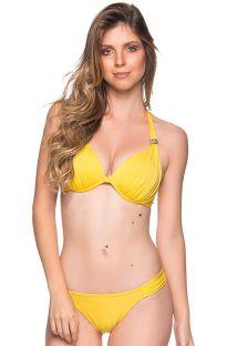 Bikini amarillo halter con accesorio - TURBINADA PAELLA