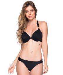 Black accessorized halter bikini - TURBINADA PRETO