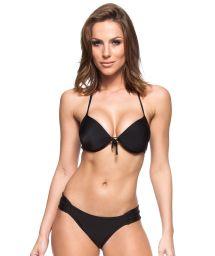 Black Brazilian bikini bottoms and underwired push-up top - VALSA