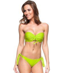 Brazilian badeau bikini in lime green - ZANZIBAR