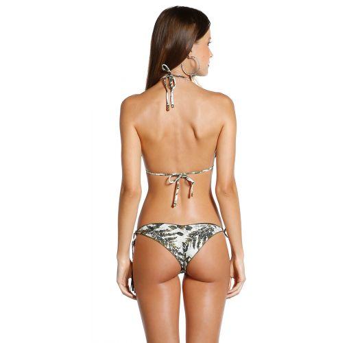 Scrunch-Bikini mit Pompons und Blattmuster - BIQUINI SOPHIA SELVA
