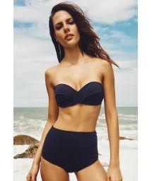 Retro style high waist black bikini - CANNES