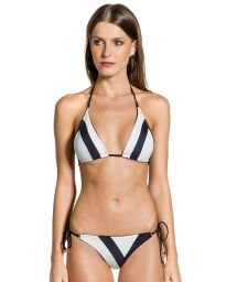 Svart och vit våtonad trekants-bikini - DUO PRETO
