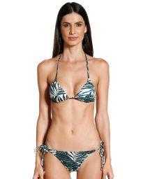 Scrunch bikini in tropical print - JESSICA FOLHAGENS