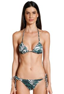 Scrunch bikini in tropical print - JESSICA FOLHAGENS