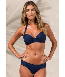 Navy blue balconette top bikini - LOREN