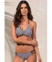 Graphic two-tone sports bra style bikini - RIALTO ZIGGY