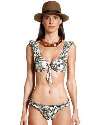 Bikini bh med vegetabiliskt tryck och vågiga kanter - SAFARI SELVA