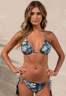 Bikini scrunch brasiliano con stampa palma da cocco - SOPHIA COCONUT