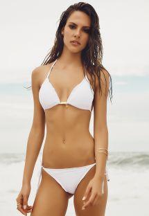 Weißer brasilianischer Scrunch-Bikini - SOPHIA WHITE