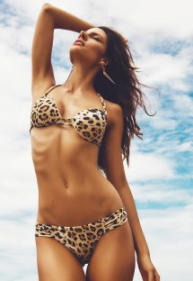 Bikini brasiliano con push up, stampa animalier - SRI LANKA
