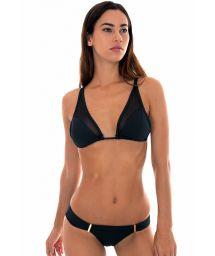 Sheer black Brazilian bikini - TULE