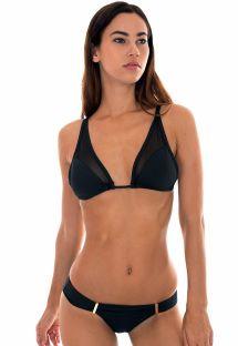 Mustat, läpinäkyvät bikinit - TULE