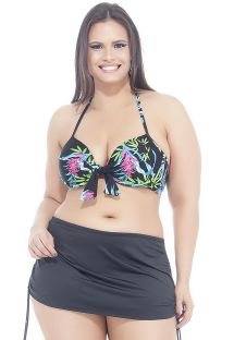 Plus-size floral bikini and skirt bottom - LAÇO SAINHA