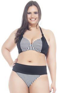 Plus-size underwired striped triangle bikini - LISTRADINHO