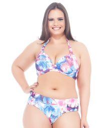 Plus-size floral underwired triangle bikini - MAR DO LESTE