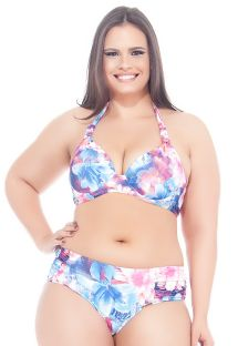 Bikini trianbular estampado floreado con armazón talla grande - MAR DO LESTE