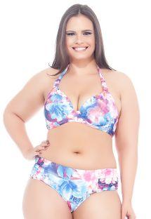 Bikini floreale a triangolo, con ferretto, taglie forti - MAR DO LESTE
