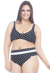 Retro polka dot bra bikini in large sizes - PETIT POA