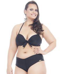 Plus-size black shorty bikini - POTIRA