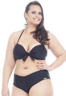 Bikini shorty noir grandes tailles - POTIRA